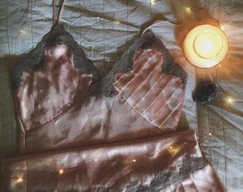 Vintage Blush Pink Negligee / Lingerie / Slip