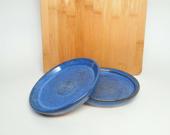 Pottery oil/vinegar dipping dishes, saucers