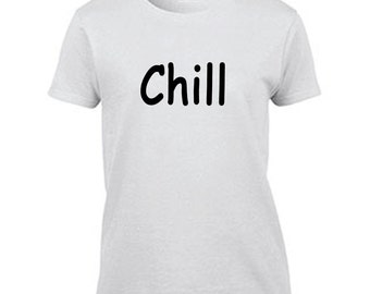 Chill Women's Halloween Costume T Shirt Funny T-Shirt Ladies Movie Night Tee Netflix and Chill Halloween Costume Tshirt