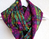 Infinity cotton scarf, Multicolor scarf, Infinity scarf, Loop scarf, Circle scarf, Jersey scarf, Paisley scarf