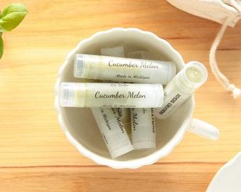Cucumber Melon Lip Balm, Natural Lip Balm, Green Lip Balm, Lip Care, Lip Butter, Lip Moisturizer, Beeswax Lip Balm, Made in Michigan