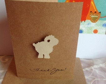 Thank you Lamb baby shower cards, Thank You note  Card,  Congratulations, Baby shower,  Baby Announcement, Welcome baby,