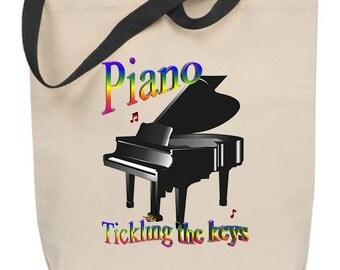 Piano - Tickling the Keys Tote Bag