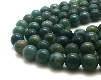 6mm Natural Moss Agate Beads Round 6mm Moss Agate 6mm 6mm Agate 6mm Agate Green Agate Beads Green Beads 6mm Green Beads