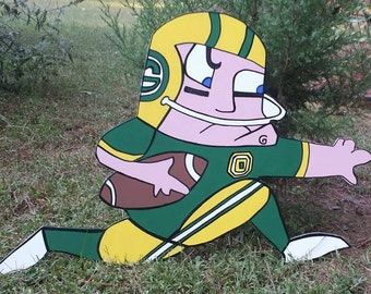 Green Bay Packer Yard Art