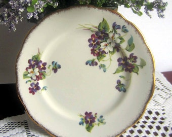 Royal Albert VIOLETS FOR LOVE Bone China Bread Plate