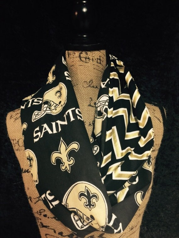 new orleans saints nfl infinity scarf by myaccessoryobsession