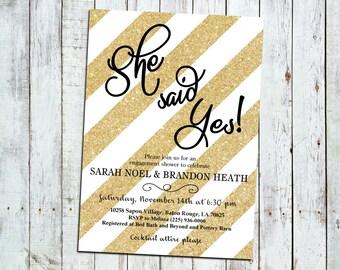 She Said Yes! Engagement/Bridal Shower invite