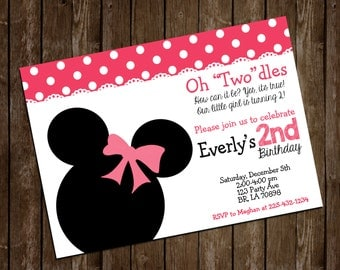 Minnie Birthday Invite