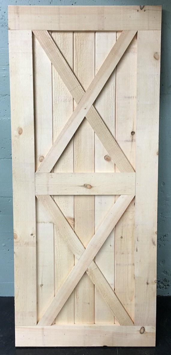 Complete kit x brace sliding barn door includes sliding barn for Complete barn home kits