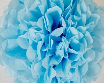Sky Blue Paper Pom Pom