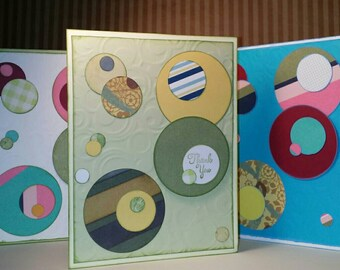 Embossed Circle Cards-  Congrats, Thank you.