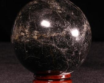 Black Tourmaline 60mm Sphere Ball .84lb