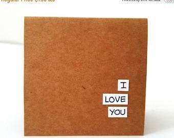 30% OFF i love you card / love you card / love cards / valentines card / anniversary card / love you greeting card /i love you husband / wif