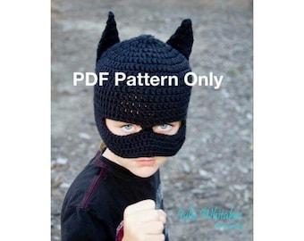 Free Crochet Pattern For Infant Batman Hat : Crochet mask pattern Etsy