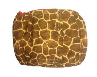 Male Dog Diaper Belly Band - Giraffe Washable Belly Band Wrap