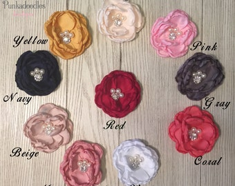 "Girls Hair Clips- Assorted Colors- 3""  Flower Hair Clip"