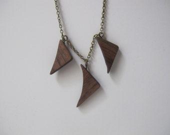 Three Walnut Bent Triangle