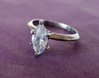 Sterling Silver Solitaire Ring – Size 4 1/2 Size 48 Size I 1/2