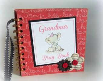 SALE! GRANDMA'S Brag Book photo album premade scrapbook keepsake new baby girl book 221