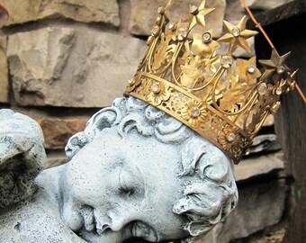 Antique Jeweled Crown Tiara - Santo Corona (Small)