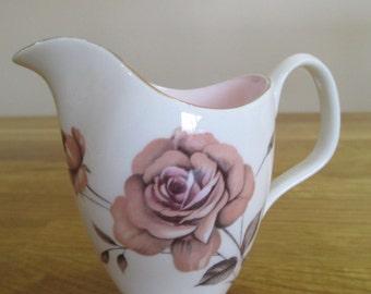 vintage royal albert prelude milk jug, creamer , fine bone china milk jug ref 6