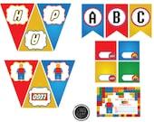 Lego Themed Birthday Party/Legos Party Printables/Legos Party Decorations/Lego/Lego Birthday Printables/Lego Birthday Party/ Legos Party