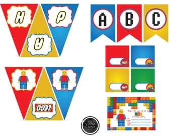 Lego Themed Birthday Party/Legos Party Printables/Legos Party Decorations/Lego/Lego Birthday Printables/Lego Birthday Party/ Legos Party