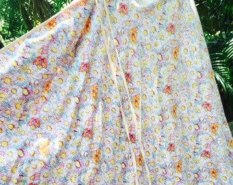 Vintage 70's wrap butterfly skirt