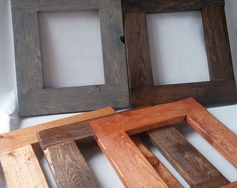 Rustic Barnwood Style Picture Frame