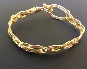 Plaited wire bangle
