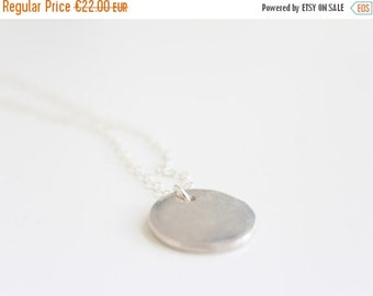 ON SALE CIRCLE · Circle Pendant Necklace in sterling silver