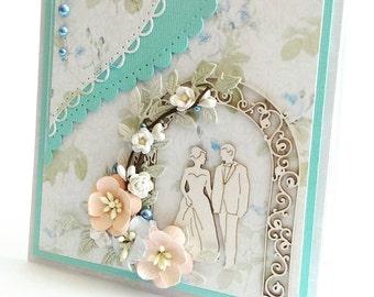 Unique Handmade Wedding Card