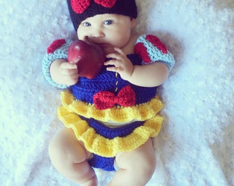 Crochet snow white dress.