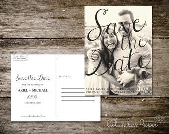 Swirls Save the Date Postcard (Set of 30)