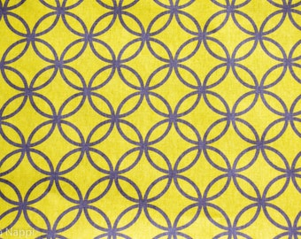 Double Sided Contemporary - Place Mats - Yellow with Pattern