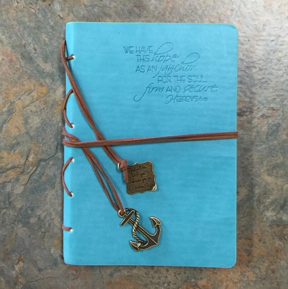 Hope As An Anchor With Anchor Charm Blue Journal By Divinity