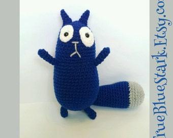 Peg + Cat stuffed toy. Cat inspired by Peg + Cat cartoon handmade crochet READ ITEM DETAILS below