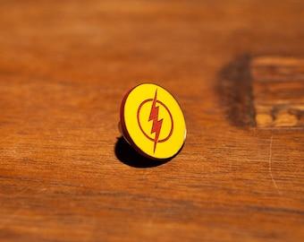 Kid Flash Logo Pin Wally West Star Labs Harrison Wells Central City Comic Geek Gift Trickster Joe West Jay Garrick  metahuman