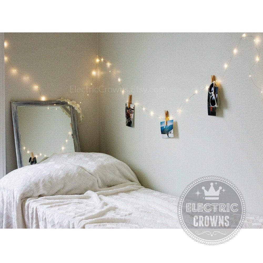 Bedroom decor home decor bedroom lights fairy lights for Room decor with fairy lights