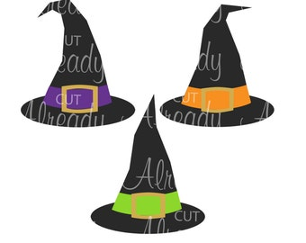 Witch Hat SVG - Witches Hats - Halloween SVG, Witch hat digital art, Halloween art, Instant Download, cut file