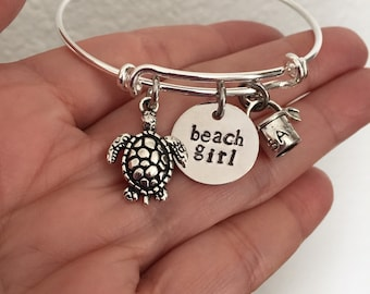 Beach girl Bracelet bangle bracelet adjustable bracelet