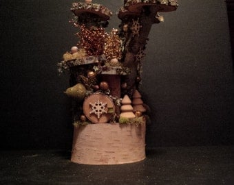 OOAK Fairy House: Harvest Holiday