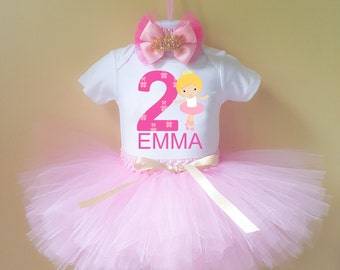 Ballerina birthday outfit , ballerina outfit , birthday outfit , tutu outfit , ballerina  tutu , ballerina 1st birthday outfit