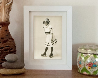 Original Skater Girl - FINE ART PRINT - Vintage Photo