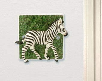 Zebra Light Switch Perfect For a Safari Themed nursery or Childs bedroom, Zebra Gift, Zebra bedroom, Zebra decor, Zebra Gifts, Zebra art,
