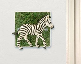 Zebra Light Switch - Safari Themed Nursery Light - Safari Bedroom Decor - Zebra Gift - Zebra Print Bedroom - Zebra Decor - Zebra Art - Gifts