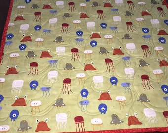 Stroller/Car Seat quilt baby sea creatures