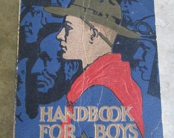 Vintage 1936 Boy Scouts of America Handbook for Boys