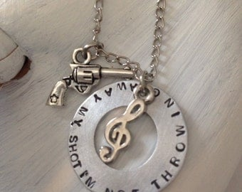 Hamilton Musical - broadway - lyrics - im not throwing away my shot  necklace - Hamilton Jewelry New Years special